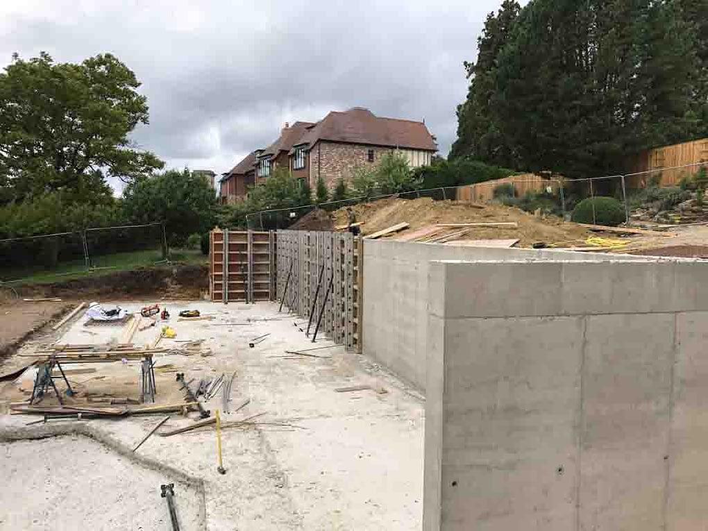 Retaining Walls Reigate July 2017