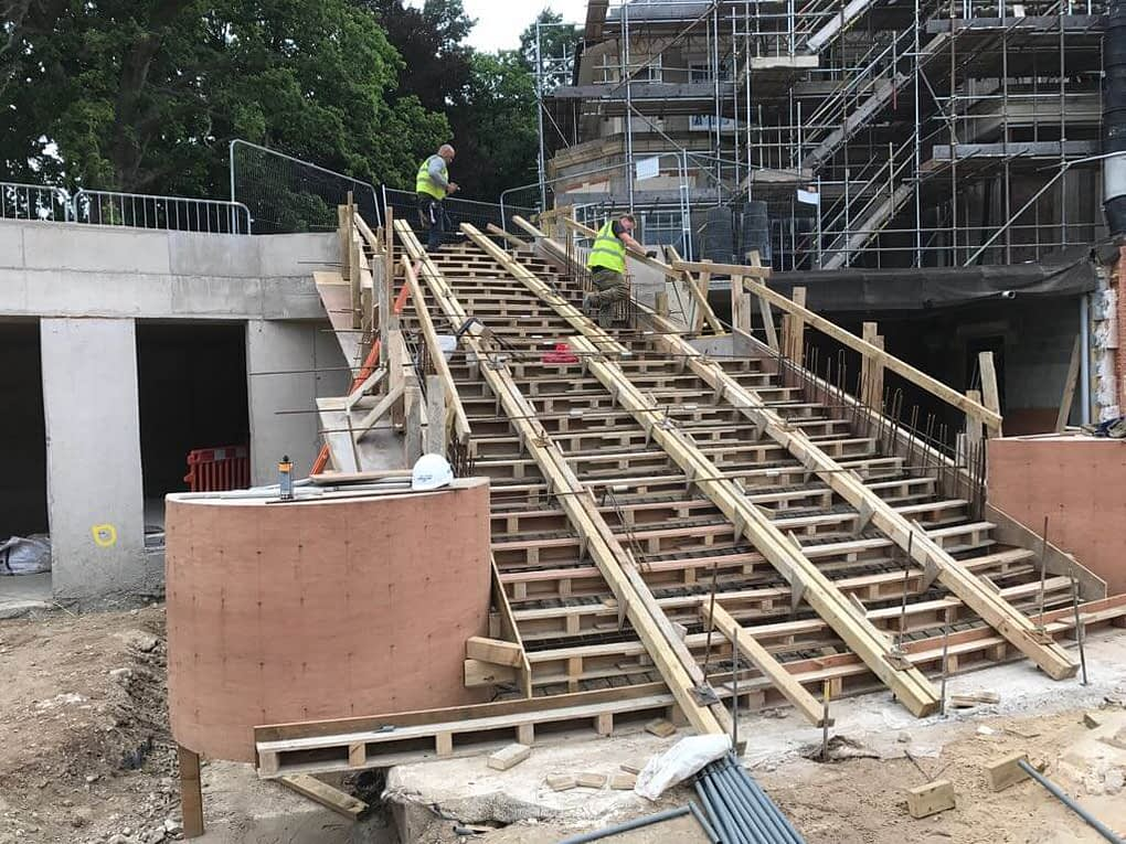 Concrete Staircases for D&K Construction July 2017