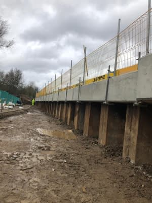 A3 Capping beam in Guildford January 2020