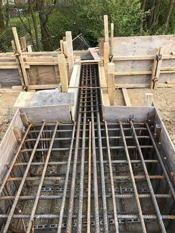 Ground beams in Mudan Construction March 2017